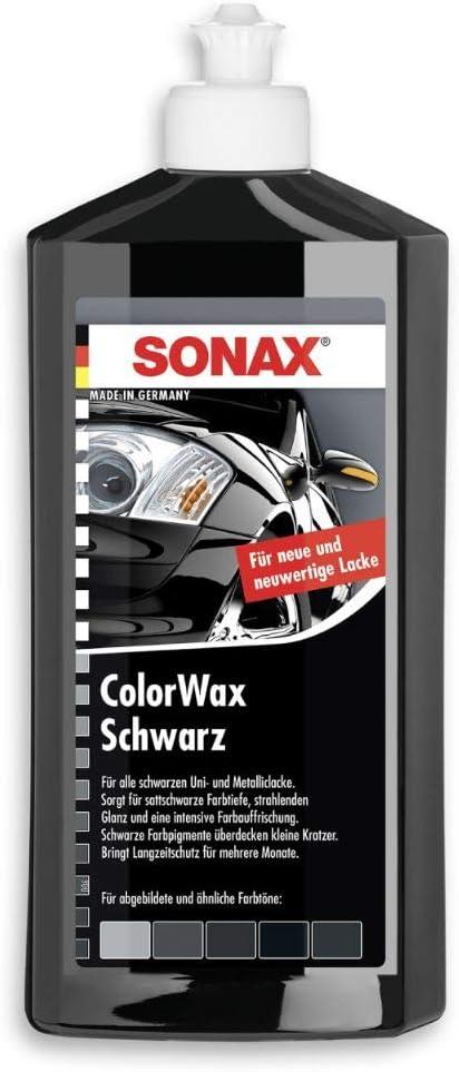 Sonax Colorwax Schwarz 500 Ml Lackkonservierung Mit Farbpigmenten Und Wachsanteilen Ohne Poliermittelanteil Art Nr 02982000 Auto