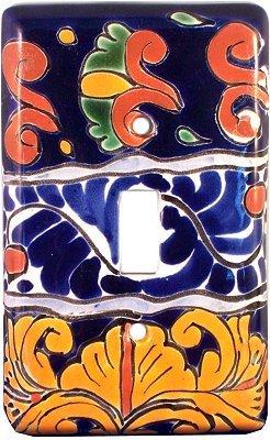 Fine Crafts Imports Single Toggle Marigold Talavera Switch Plate