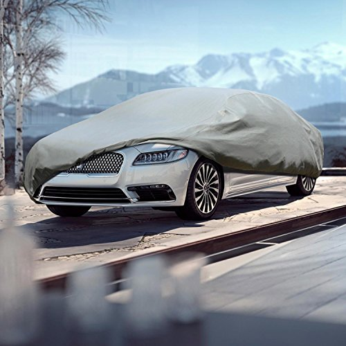 Leader Accessories Platinum Guard Gray 7 Layer Super Soft Car Cover with Cotton Outdoor Protect Against Scratch Cars up to 200''