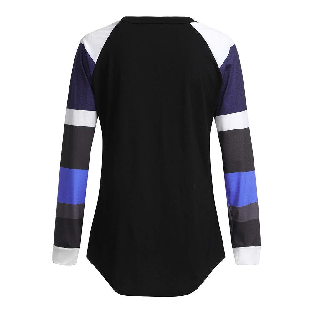 57e21433f5d Women Christmas Shirt Loose Long Sleeve Stripe Deer Print Tunics Tops  Blouses at Amazon Women's Clothing store: