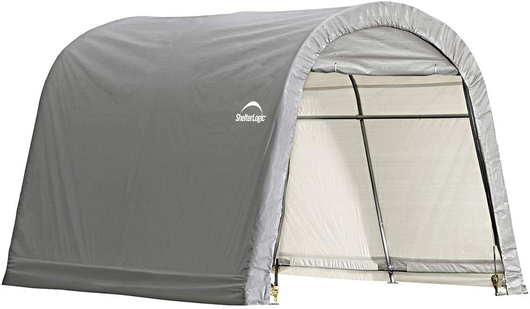 Amazon Com Shelterlogic Replacement Cover Kit 10x10x8 Round Gray 90538 7 5oz Gray Garden Outdoor