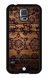 iZERCASE Samsung Galaxy S5 Case Brown Flowers on Wood RUBBER - Fits Samsung Galaxy S5 T-Mobile, AT&T, Sprint, Verizon and International by runtopwell