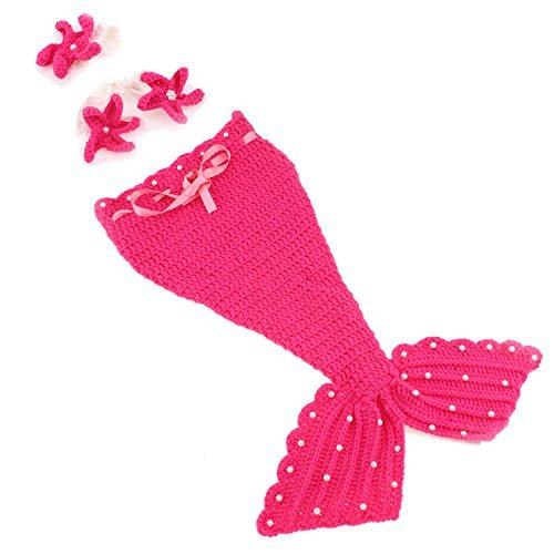 bff7d74a3b039 YideaHome ベビー コスチューム 人魚 着ぐるみ手編み感 記念撮影 赤ちゃん ...