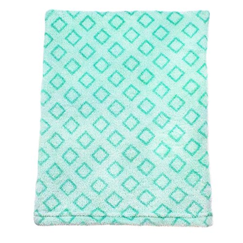 Cozy Fleece Baby Blankets, Green Diamond (Diamond Fleece Blanket)