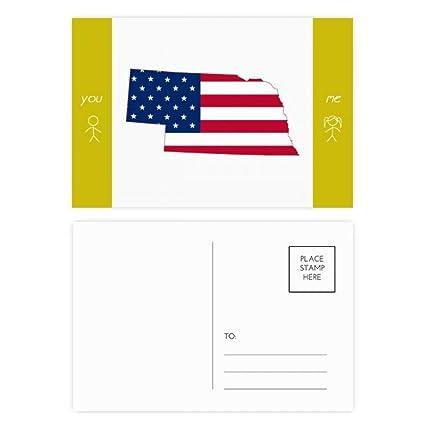 Amazon Com Nebraska Usa Map Stars Stripes Flag Shape Friend