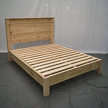 Amazon Com Unfinished Farmhouse Platform Bed King