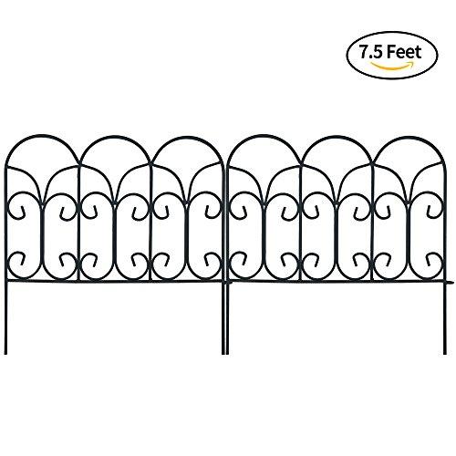 Amagabeli Garden Fence Wire Border Fence Iron Patio Decorative Lawn Fence  Panels Metal Concise Design, ...