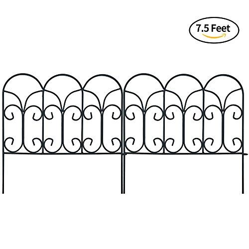 Decorative Garden Border Edging Wire Fence Panel Bed Flower Lawn ...