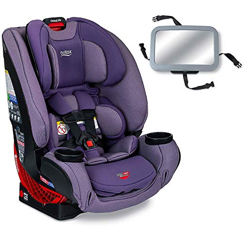 Britax One4Life Clicktight All-in-One Convertible Car Seat – Plum with Backseat Mirror