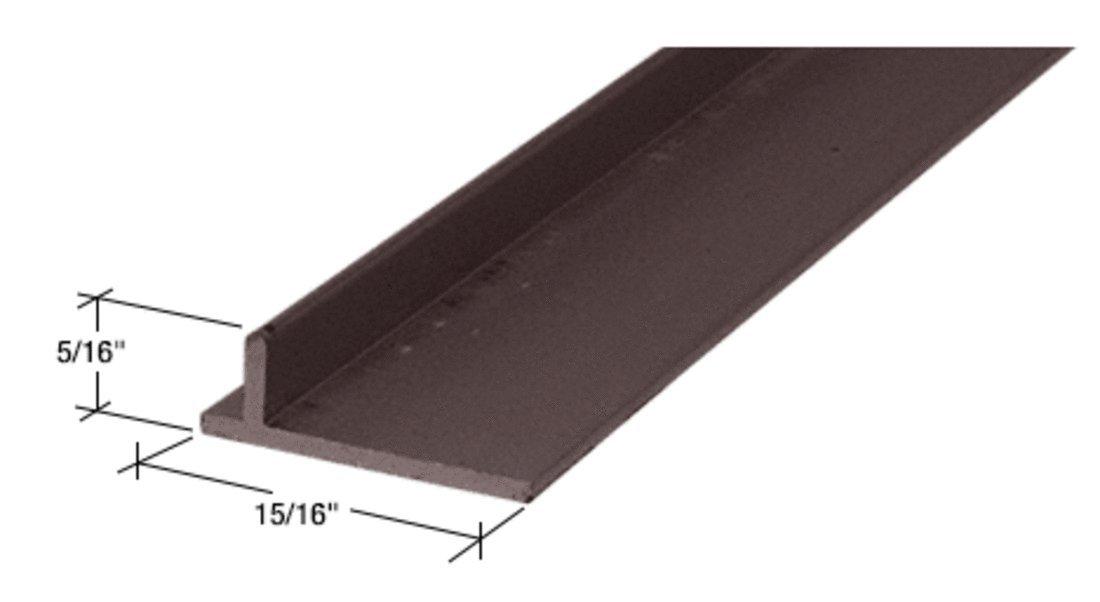 CRL Bronze 120'' Sliding Screen Door Rail