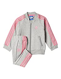 Adidas Baby Girl's Originals Infant Heathered Sst Track Suit