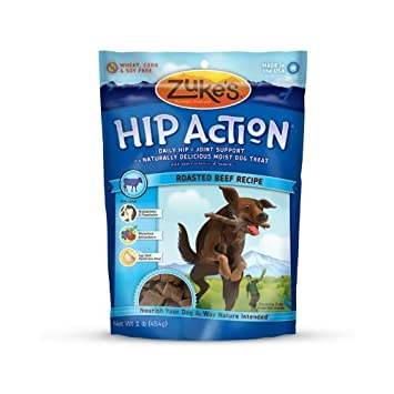 Zuke s Hip Action Natural Dog Treats Roasted Beef Recipe, 16-Ounce Pack of 2