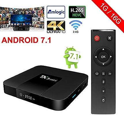 Wingogo - TX3 - Decodificador mini Android 7.1, Smart TV Quad core 2.4 G WiFi 4K final HD VP9 HEVC: Amazon.es: Electrónica