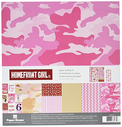 Paper House Productions KTSP-1044E Paper Crafting Kit, Homefront Girl Pink Camo (3-Pack) ()