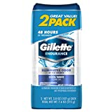 Gillette Endurance Antiperspirant / Deodorant, Cool Wave Clear Gel, 3.8 Ounce (Twin Pack)