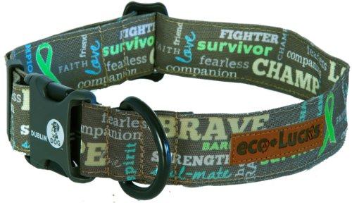 "eco-Lucks Dog Collar,Survivor Sage, Large 15"" x 24"""