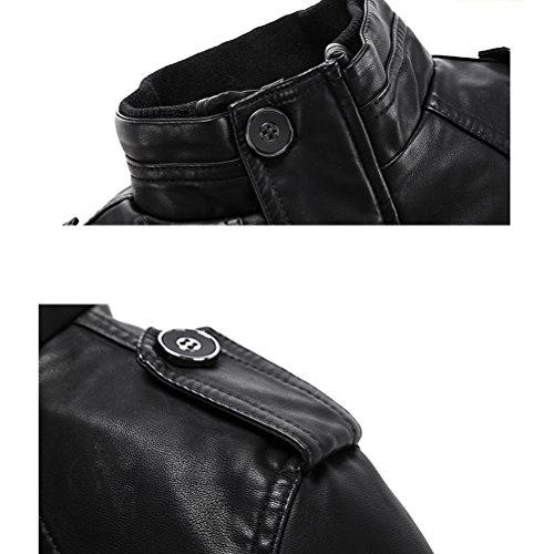 Con Nero 6 Trench xs Pelle Cintura Robo Stile Biker l Attillata Da Uomo Giacca In Fit Basic Cappotto 3 Nera Slim TRWpWwqO