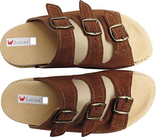 Sandalen - Pantolette - Hausschuhe -Sandaletten Gr.40, 41, 42, 43, 44, 45, 46 Wildleder (PL.26-04-4-80)