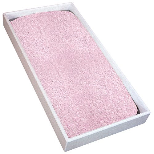 Kushies Baby Terry Changing Pad Cover, Pink Solid (Terry Pad Changing Baby)