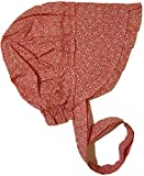 Americana Adult Large Prairie Sun Bonnet (Various Colors) (Cotton Candy Pink With White)