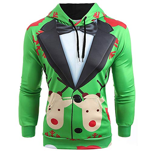 Leomodo Christmas Faux Suit Print Pullover Hoodie (Wax Dipped Bears)
