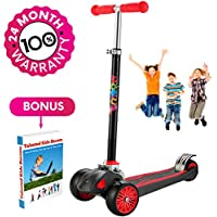 Mobius Toys Maxi Foldable Kick Scooter Deluxe for Kids