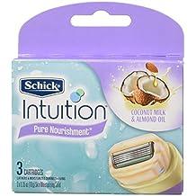NEW Schick 100% Genuine Intuition Pure Nourishment Razor Refill Coconut milk and almond oil Cartridge 12 Blade