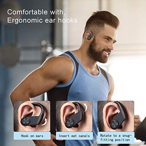 Wireless Earbuds Sport, Bluetooth 5.0 Headphones, Deep Bass in-Ear Touch Control IPX7 Waterproof Sport Earphones, Mono&Twin Mode/30H Playtime/USB-C Charging Case/Built-in Mics for Running Gym Workout