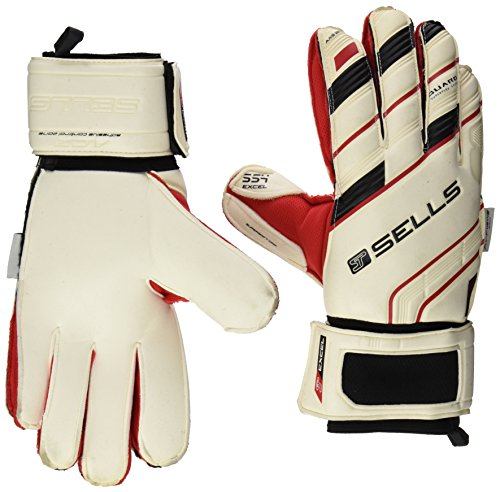 Sells Goalkeeper Products Wrap Axis 360 Excel Supersoft 4 Goalkeeper Glove with Guard, White, 8 Sells Goalkeeper