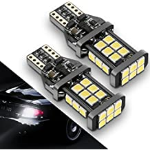 921/912/T15 LED Backup Bulbs Reverse Lights, Upgrade SEALIGHT Xenon White 6000K, 24 SMD, 2 Yr Warranty (Pack of 2)