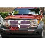 APS Compatible with 2007-2011 Dodge Nitro Black Main Upper Billet Grille Grill Insert D66473H