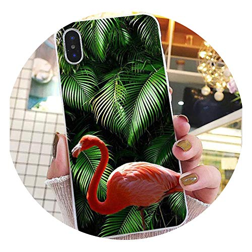 Nature Palm Tree Leaves Cactus Black TPU Soft Phone Cover for iPhone 8 7 6 6S Plus X XS MAX 5 5S SE XR 10 Cover,A6,for iPhone 8 Plus ()