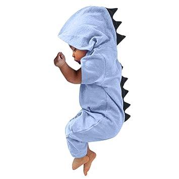 42b3e98eb Newborn Infant Baby Baby Boys Girls Dinosaur Sleepsuits Pyjamas Kids ...