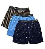 Polo Ralph Lauren Classic Fit Cotton Knit Boxers - 3 Pack (RCKBS3) M/White/Pink/Royal