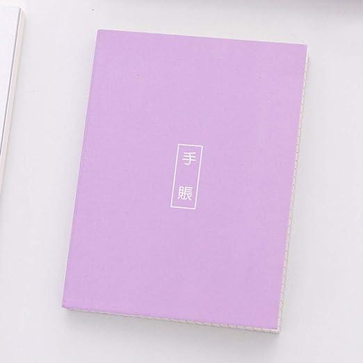 YUNYOTE Cuaderno De Color Caramelo Mini Cuaderno Simple con ...
