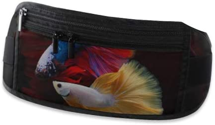 Multi Color Siamese Fighting Fish Rosetailhalf Moonfighting Running Lumbar Pack For Travel Out Travel Waist Pack,travel Pocket With Adjustable Belt