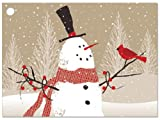 Woodland Snowman Theme Gift Cards3-3/4x2-3/4'' (30 unit, 6 pack per unit.)