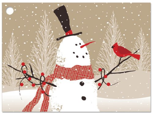 Woodland Snowman Theme Gift Cards3-3/4x2-3/4'' (30 unit, 6 pack per unit.) by Nas