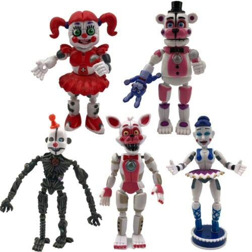 Set 5pcs || Five Nights at Freddy's Sister Location Action Figures Party Toys Gift FNAF (US Stock)