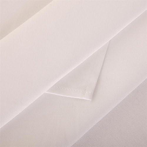 Plástico de servilletas, Uni Blanco, mezcla de algodón damasco ...