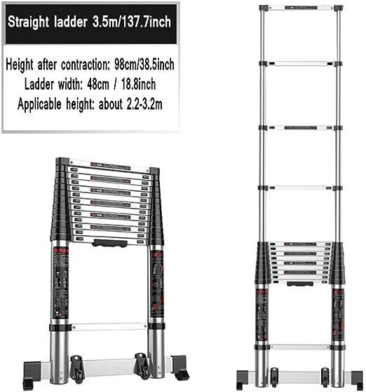 XSJZ Escaleras Telescópica, Retráctil Escalera de Ingeniería de Elevación Extendida para Herramientas de Escalada En El Hogar Construcción de Escaleras Especiales Escalera Plegable (Size : 3.5m): Amazon.es: Hogar