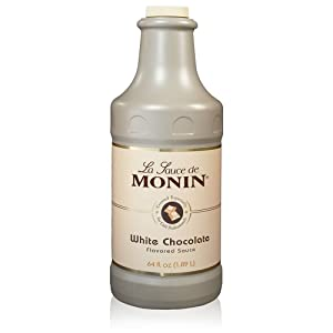 Monin - Gourmet White Chocolate Sauce, Creamy and Buttery, Great for Desserts, Coffee, and Snacks, Gluten-Free, Non-GMO (64 Ounce)
