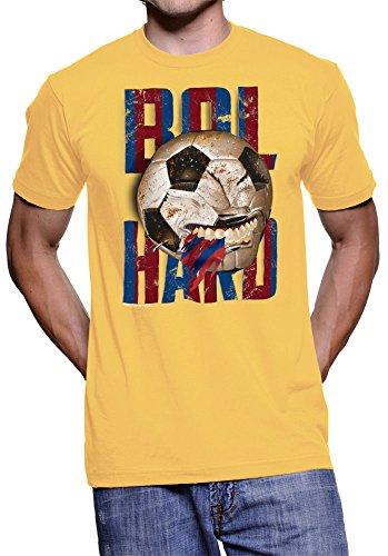 amnistía Deportes Barcelona Furious Futbol playera, Gold/Stripe, XX Grande