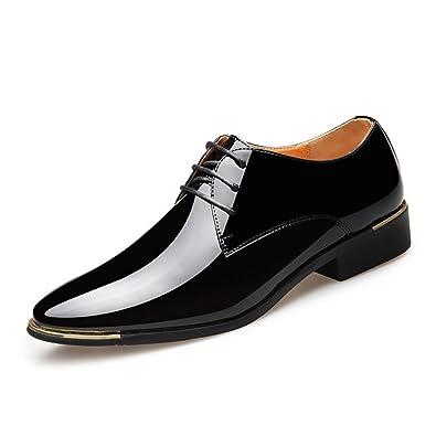XUE Hommes Chaussures en Cuir Printemps Automne Confort Baskets Chaussures de Course Légère Lacets pour athlétique en Plein air Trekking Plats Mocassins (Couleur : Une, Taille : 39)