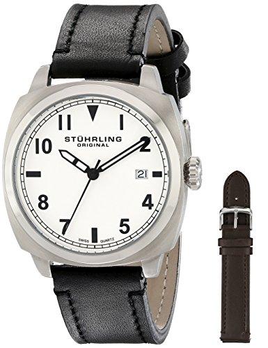 Stuhrling Original Men's 770.SET.01 Tuskegee Spitfire Watch Set with Two Interchangeable Straps