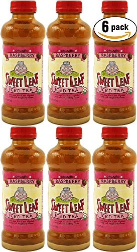 Sweet Leaf Raspberry, Iced Tea (Pack of 6, Total of 96oz) -