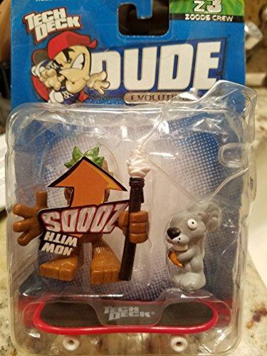 Tech Deck Dude Evolution Zoods Crew Z3 #017 Tiki & #017z Skippy