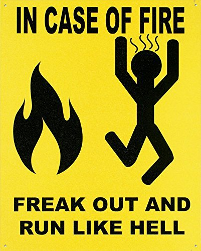 """Amazon.com: DominicaVwesk in Case of Fire Tin Sign 8""""x12 ..."""