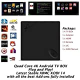Kukele@ Unlocked XBMC KODI 16 Add-ons Fully Loaded - BEELINK X2 Quad Core 4K - Android Kitkat Smart IPTV Streamer - Apps Pre-installed Internet Streaming Media Pre-loaded Player & KODI Manual