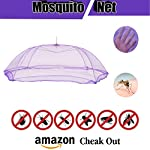 IGNOTO Polycotton Mosquito net for New Born Baby/Kids (9-12 Months)|| King and Queen Size Bed/Double Bed/machardani for…